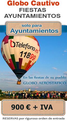 Fiestas Ayuntamientos. Vuelos en globo. Oferta -33% solo para ayuntamientos - Globos.es